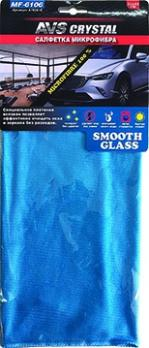 Салфетка микрофибра особого плетения для стекол и зеркал AVS MF-6106 (35х40см) (1шт)