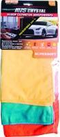 Набор салфеток от пыли, для стекол, полировки AVS MF-6118 (3шт. разные, 30х35, 30х30, 30х25см)