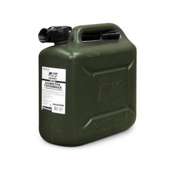 Канистра для топлива (пластик) 10л (тёмно-зелёная) AVS TPK-Z 10