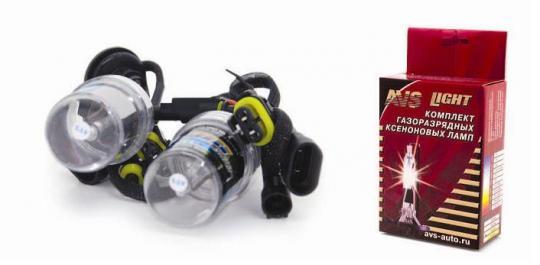 Лампы ксенон H4/H+галоген (4300K) (2 шт.) AVS разъём KET