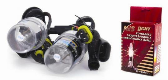 Лампы ксенон HB4 (9006) 6000K (2 шт.) AVS разъём KET