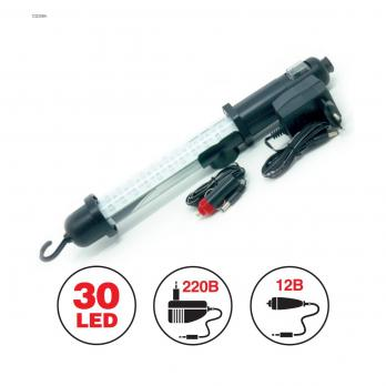 Светильник переносной AVS CD306A (30LED) 220/12V (акб)