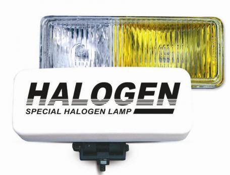 Противотуманные фары галогенные (H3) AVS PF-116H (белый-желтый, 12V 55A H3, пластик, рифленое стекло) 2 шт.