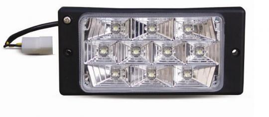 Противотуманные фары светодиодные (10LED) AVS PF-174L (12V 55A H3, LADA 2110-2112) 2 шт. белый