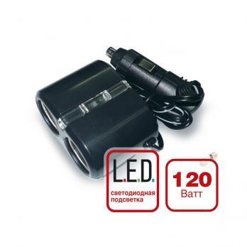 Разветвитель прикуривателя 12/24V (на 2 выхода) AVS CS204