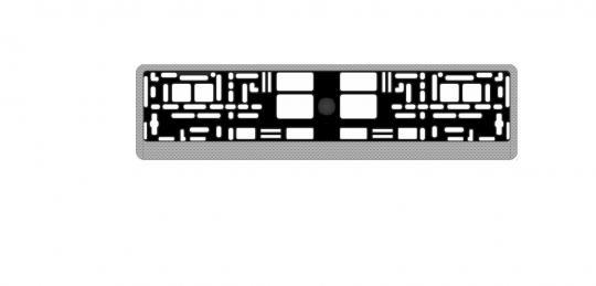 """Рамка под номерной знак карбон (светлый)"""" AVS RN-05"""""""