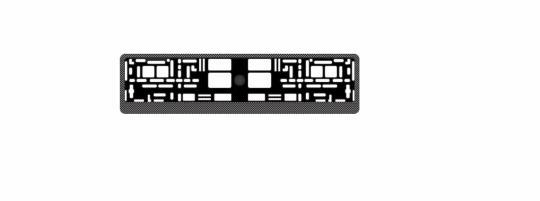 """Рамка под номерной знак карбон (тёмный)"""" AVS RN-04"""""""