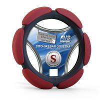 Спонжевая оплетка руля AVS SP-426S-RD ( размер S, красный)
