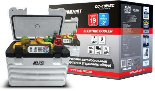 Холодильник автомобильный AVS CC-19WBC (19л 12В/24В/220В)