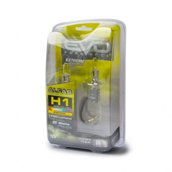 """Газонаполненные лампы EVO Alfas """"Максимальная освещённость"""" жёлтый, 2800К H1, комплект 2 шт."""