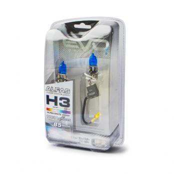 """Газонаполненные лампы EVO Alfas """"Ультра-белый"""" 6000К H3, комплект 2 шт."""