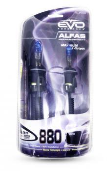 Газонаполненные лампы EVO Alfas +130% / 12V / 4300K / H27 (880) комплект 2 шт