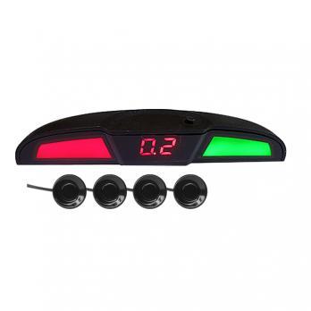Парктроник PS-444U (4 датчика+коннекторы, голосовое, цветной светодиодный дисплей с цифровым табло)
