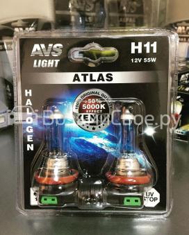 Лампа галогенная AVS ATLAS /5000К/ H11.12V.55W (блистер, 2 шт.)