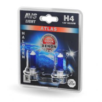 Лампа галогенная AVS ATLAS /5000К/ H4.12V.60/55W (блистер, 2 шт.)