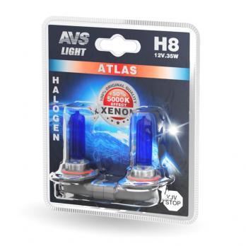 Лампа галогенная AVS ATLAS /5000К/ H8.12V.35W (блистер, 2 шт.)