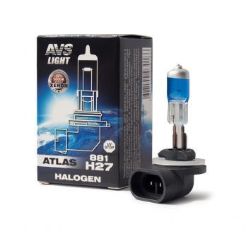 Лампа галогенная AVS ATLAS BOX /5000К/ H27/881 12V.27W (1 шт.)
