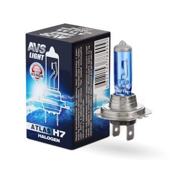 Лампа галогенная AVS ATLAS BOX /5000К/ H7.12V.55W (1 шт.)