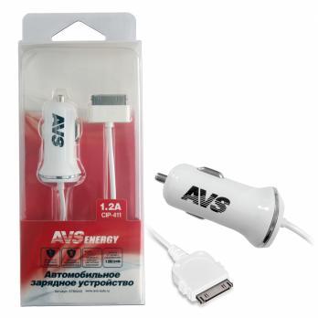 Автомобильное зарядное устройство для iphone 4 AVS CIP-411 (1,2А)