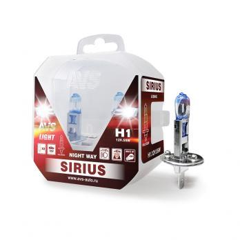 Лампа галогенная AVS SIRIUS NIGHT WAY H1.12V.55W Plastic box -2 шт.