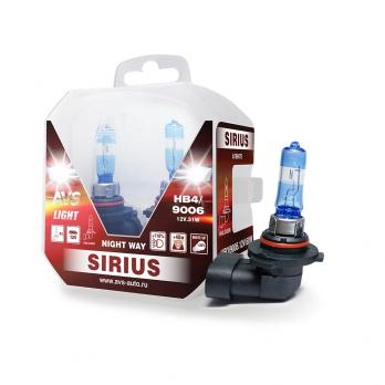 Лампа галогенная AVS SIRIUS NIGHT WAY HB4/9006.12V.55W Plastic box -2 шт.