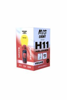 Лампа галогенная AVS Vegas H11.12V.55W (1 шт.)