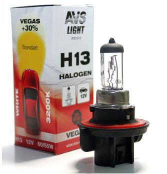 Лампа галогенная AVS Vegas H13.12V.60/55W (1 шт.)