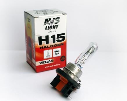 Лампа галогенная AVS Vegas H15.12V.15/55W (1 шт.)