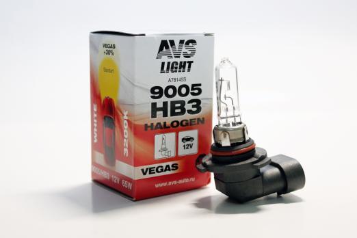 Лампа галогенная AVS Vegas HB3/9005.12V.65W (1 шт.)