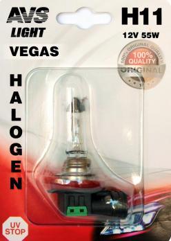 Лампа галогенная AVS Vegas в блистере H11.12V.55W (1 шт.)