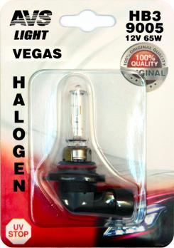 Лампа галогенная AVS Vegas в блистере HB3/9005.12V.65W (1 шт.)