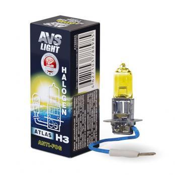Лампа галогенная AVS ATLAS ANTI-FOG / BOX желтый H3.12V.55W (1 шт.)