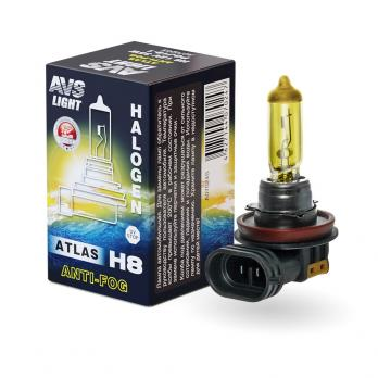 Галогенная лампа AVS ATLAS ANTI-FOG BOX желтый H8.12V.35W (коробка-1шт.)