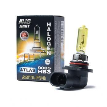 Галогенная лампа AVS ATLAS ANTI-FOG BOX желтый HB3/9005.12V.55W (коробка-1 шт.)