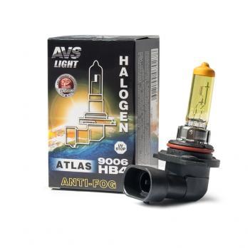 Галогенная лампа AVS ATLAS ANTI-FOG BOX желтый HB4/9006.12V.55W (1шт.)