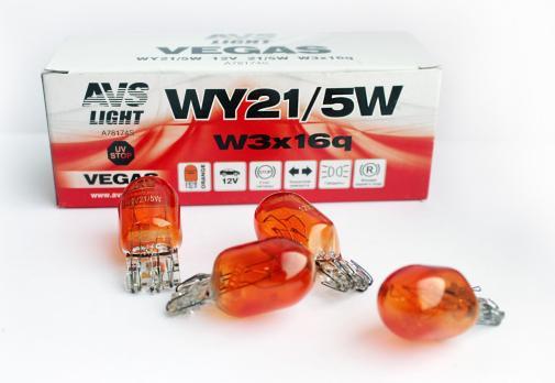 "Лампа AVS Vegas 12V. WY21/5W orange"" (W3x16q) BOX (10 шт.)"""