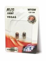 "Лампа AVS Vegas CHROME в блистере 12V. WY5W (W2,1x9,5d) yellow""-2 шт."""