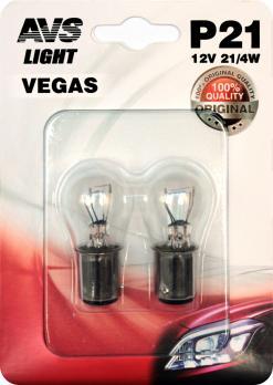 Лампа AVS Vegas в блистере 12V. 21W (BAU15S) (2 шт.)