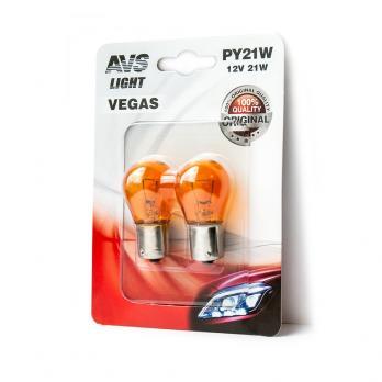 "Лампа AVS Vegas в блистере 12V. PY21W (BAU15S) orange"" (2 шт.)"""