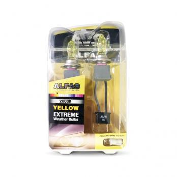 """Газонаполненные лампы AVS Alfas """"Максимальная освещённость"""" жёлтый 2800К H7, комплект 2 шт."""