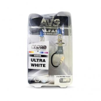 """Газонаполненные лампы AVS Alfas """"Ультра-белый"""" 6000К H3, комплект 2 шт."""