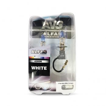Газонаполненные лампы AVS Alfas +130% 4300K H1 комплект 2 шт.