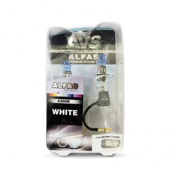 Газонаполненные лампы AVS Alfas +130% 4300K H3 комплект 2 шт.