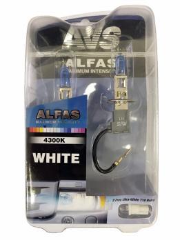 Газонаполненные лампы AVS Alfas 24V 4300К H1, комплект 2 шт.