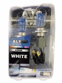 """Газонаполненные лампы AVS Alfas"""" 24V 4300К H4, комплект 2 шт."""""""