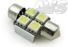 T11 C007 /белый/ (SV8,5/8) 4x5050 SMD 31mm CANBUS, блистер, 2 шт
