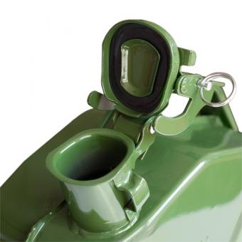 Канистра топливная металлическая вертикальная 5 л (зелёная) AVS VJM-05