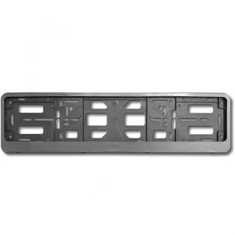 Рамка под номерной знак двусоставная (серебристый металлик) AVS RN-16