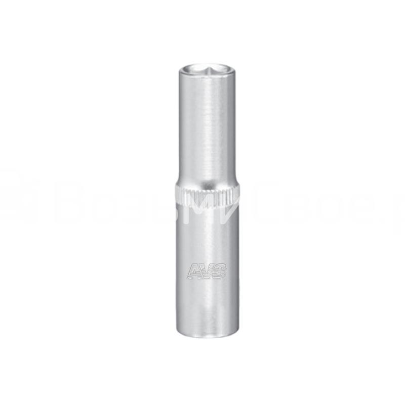 Головка торцевая глубокая 6-гранная 1/4''DR (9 мм) AVS H11409