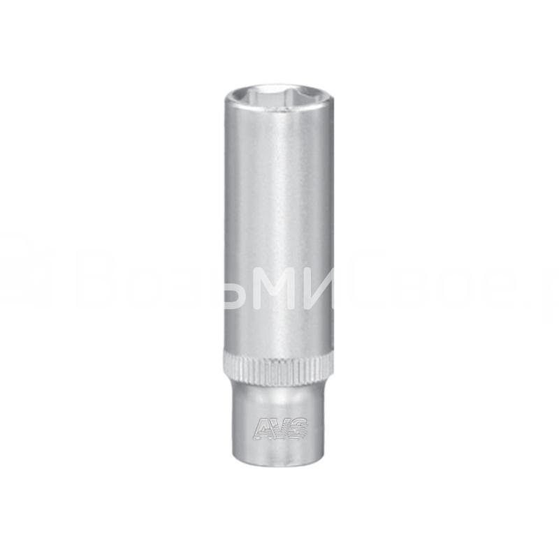 Головка торцевая глубокая 6-гранная 1/4''DR (10 мм) AVS H11410